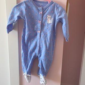 Carter's baby girl 3M pajama  🐱